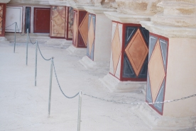 Frescoes at northern hanging terraces of Masada