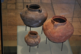 Earthern pots excavated at Masada