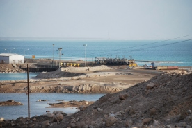 Commercial activities near southern end of dead sea