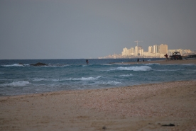 View of Rishon-LeZion from Palmachim beach