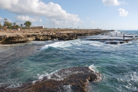 Achziv rugged sea coast