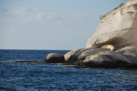 Rosh Hanikra cliffs as seen from Achziv