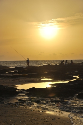 Fisherman are seen in all beaches of Israel